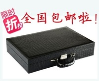 Jewelry box quality crocodile pattern watch box display box watch storage box suitcase