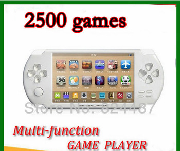 4.3 inch 8G game console Bulit in Camera FM TV OUT Handheld Game Player Free 2500 games
