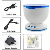 Free Shipping Bathroom Waterproof Ocean Wave Sea LED Projector Romantic Mood Light MP3 Speaker