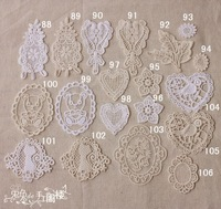 Handmade patchwork accessories laciness 100% cotton embroidery lace fabric  t2