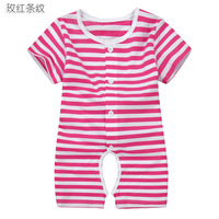 2013 fashion summer open-crotch infant romper children's jumpsuit newborn baby sleep suit cotton one piece clothes free shipping