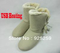 USB Foot Warmer Shoes Electric Heating Shoes Warm Feet Treasure No Mroe Winter High Quality Free Shipping Oubohk