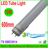 25PCS/Lot Factory Supplier, 600mm 2FT 60cm T8 LED Tube Light,SMD3014,Warm/Natural/Cool White,3 Years Warranty,Frosted PC Cover