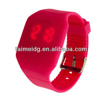 fashion square blinking silicone led watches