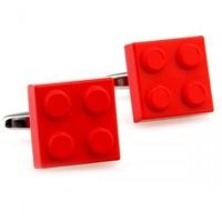 ladies cuff links Classic red square lego cufflinks