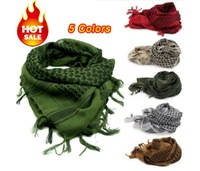 Military windproof Shemagh Tactical Desert ARAB Scarves Keffiyeh Scarf 100% Cotton Wargame Scarf Thickened Plus free shipping