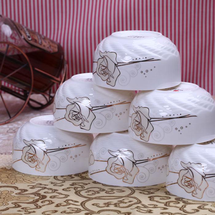 Bone china bowl of rice set rice bowl kitchen utensils bowl set bone china 10 bowl(China (Mainland))