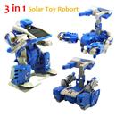 Free Shipping 3 in 1 Solar Powered Movable Toy Robot Tank Scorpion Transformer DIY Model Kit