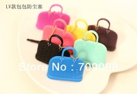 Free shipping Creative silicone bag 3.5mm dust plug earphone Jack Plug for Apple iPhone/Samsung Retail Package