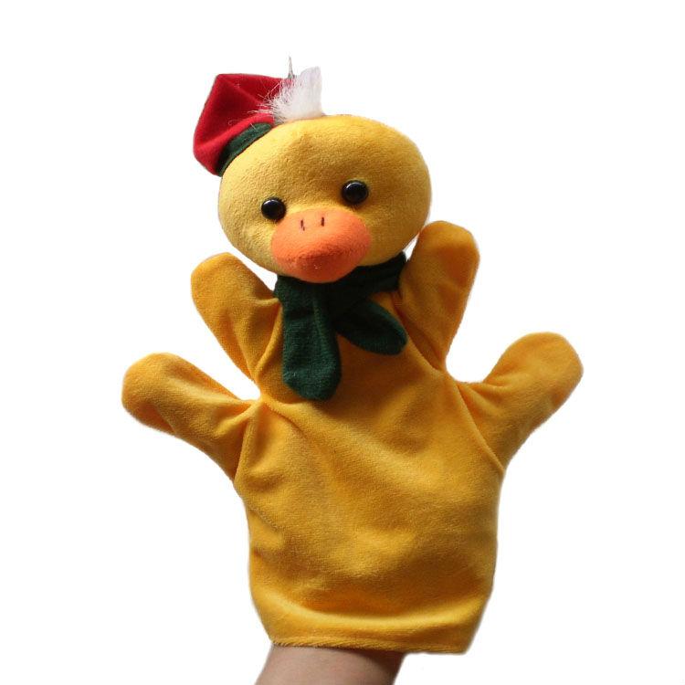 1 piece, Plush Christmas duck hand puppet, stuffed Christmas duck hand puppet, Christmas animals hand puppets free shipping(China (Mainland))