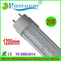 25PCS/Lot 20W 1200MM Clear Clover T8 LED Tube Light Epistar SMD3014 4FT 192led/PC AC110-240V Aluminum+PC Round,3 Years Warranty