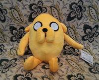 30pcs/lot Adventure Time Plush Toys, Jake Plush Dolls, 12cm Anime Phone Pendant, Phone Dust Plug, Free Shipping