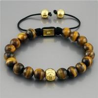 Authentic! Big brands Bracelet  Hand-woven Tiger Eye Bracelet  Cheap Jewelry Large size Men special election!