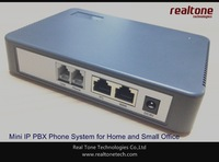Embedded Mini IP PBX support 8 SIP users and trunks, 1 FXS and 1 FXO inside, support 3 way conference