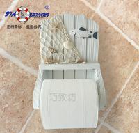 Marine handmade solid wood toilet paper holder paper towel holder toilet paper rack roll holder