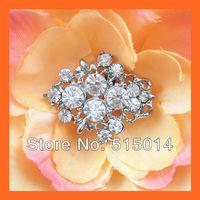 Free Shipping!100pcs 27*22mm Crystal Rhinestone Cluster,Wedding  Embellishment ,Rhinestone Brooch