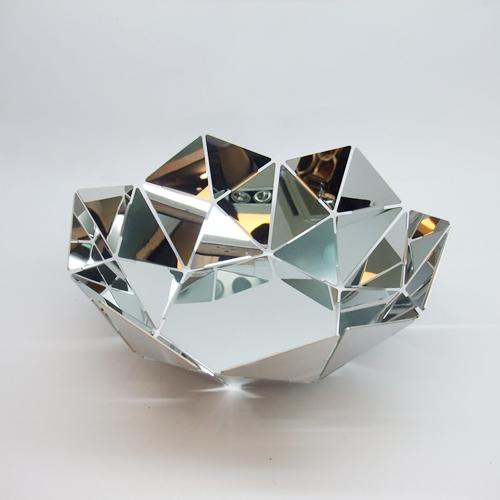 Nordic style water magic cube stainless steel fruit plate fruit basket fruit bowl(China (Mainland))