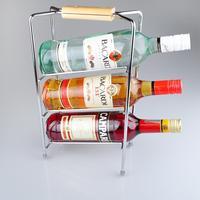 wooden handle three-layer thickening overstretching iron wine rack cabarets and bar wine holder