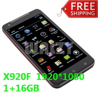 DHL Free shipping X920F MTK6589t Quad-Core 1.5GHz 1G 16G 5.0 Inches FHD Screen Rear Camera 12.6MP - Black