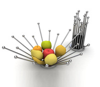 fashion folding stainless steel compotier home supplies fruit plate