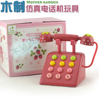 New arrival mother gardon telephone wooden child toy