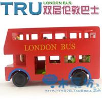 Original tru imagination toy double layer bus wool toy car