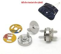 "Free Shipping! 20 Sets Silver Tone Magnetic Purse Snap Clasps/ Closure for Purse Handbag 14mm(4/8"") Dia. (B20766)"
