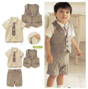 online kaufen gro handel gentlemen baby suit aus china. Black Bedroom Furniture Sets. Home Design Ideas