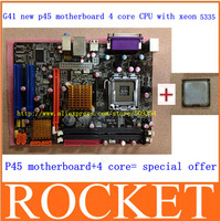 promotional price G41 desktop motherboard+5335 high level (2.00GHZ) 8M true quad-core INTEL CPU + Free shipping
