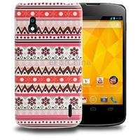 Imaginery and Pretty Lace Pattern Plastic Protective Case for LG Nexus 4 / E960