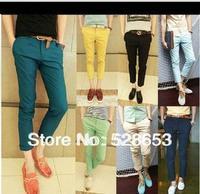 N003  Fashion casual men candy color thin nine minutes of pants pencil pants  ninth pants Men's jeans