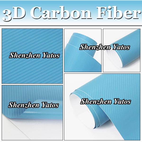 13Colors Available Option Carbon Fiber Sheet 3d Texture Film Auto Part Foile Vinyl Bubble Free(China (Mainland))