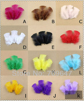 500PCS/LOT 6-8cm Natural Multicolor TURKEY PLUMAGE FEATHERS FREESHIPPING