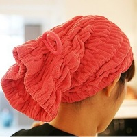 Super absorbent dry hair hat fashion elastic advanced microfiber absorbent material dry hair cap Tile Diameter 23CM