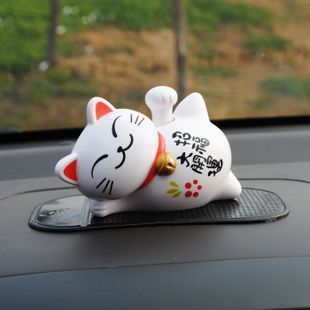 Solar Powered Waving Hand Million Dollar Comes Traditional Maneki Neko Lucky Cat(China (Mainland))