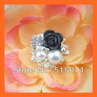 Free Shipping!100pcs 24mm Crystal Rhinestone Cluster,Wedding  Embellishment ,Rhinestone Brooch