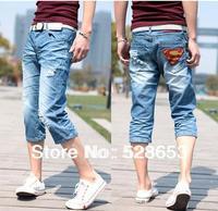 N005  Edition superman cowboy 7 minutes of pants men's pants underwear jeans