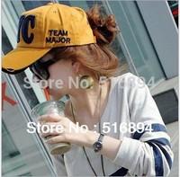 Hot 2013 Retail Fashion Couple leisure Baseball caps hats Visors Unisex 6 colors outdoor sunhat free shipping