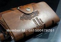vintage business men wallet genuine leather long man zipper purse hasp clutch bag Free Shipping cool~~~