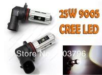 Free shipping 2x 25W CREE LED 6000K Super Bright Bulb Lamp 9005-HB3 FOR Honda Acura Subaru +More