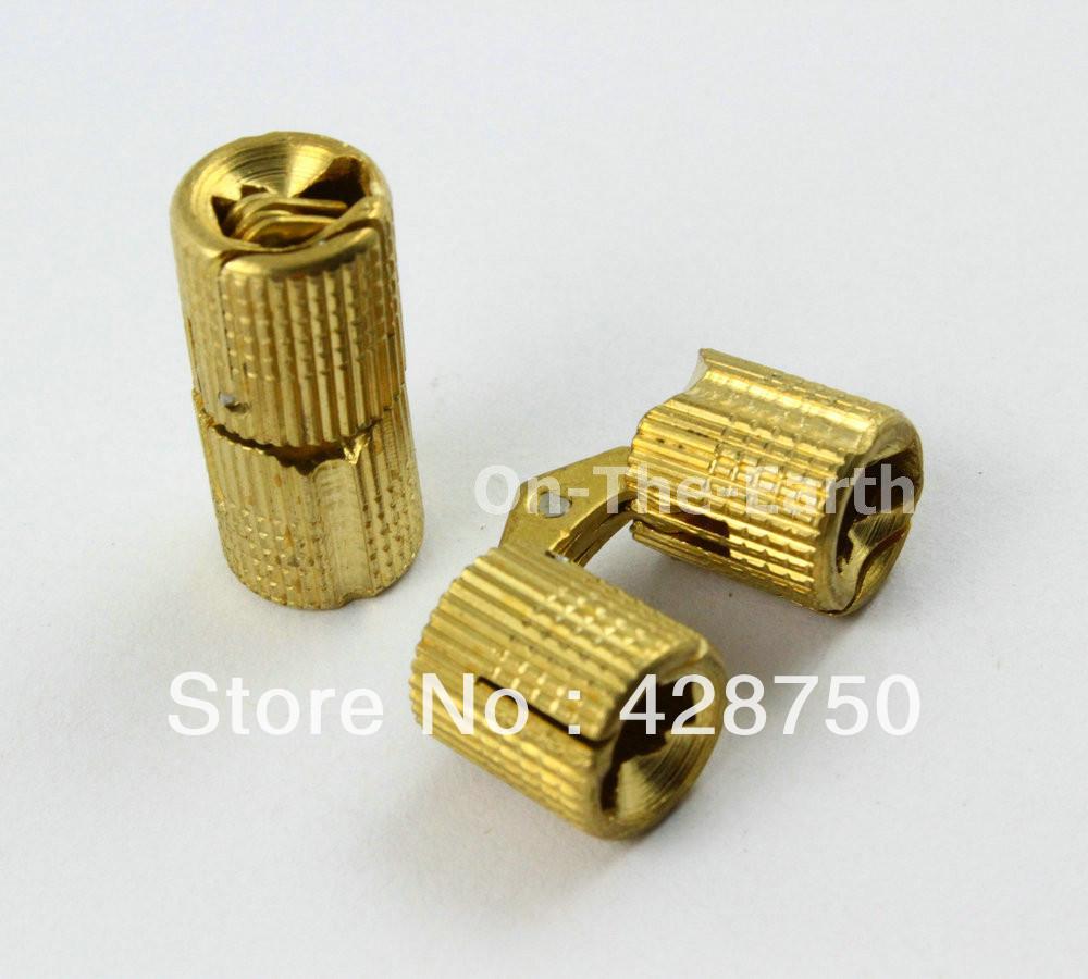 "8PCS/Lot HIDDEN HINGE INVISIBLE HINGE BARREL CONCEALED HINGE 10mm (3/8"") - BRASS(China (Mainland))"
