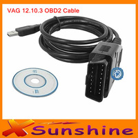 Free Shipping V--A--G 12.10.3 COM Diagnostic USB Cable 12.10.3 USB Cable For AU---DI & VW Skoda Seat  2013 New Lowest  Price