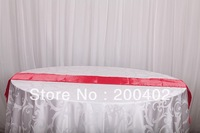 free shipping red satin table runner