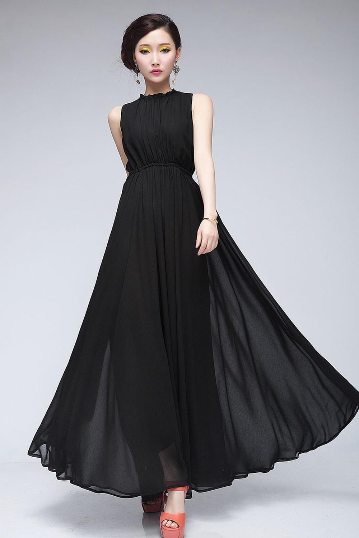 Длинное Черное Платье