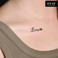 Tg tattoo stickers waterproof letter you tattoo g039