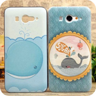 Fresh blue little whale ocean millet m2 echinochloa frumentacea s phone case 2 cell phone case m2 protective case colored