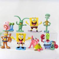 Action figures SpongeBob family doll  portrait 8 style per set  free shipping