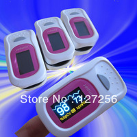 Home care CE pulse oximeter with Audio&visual Alarm spo2 monitor pulse rate heart monitor. Pink Grey Blue PR SPO2 Waveform