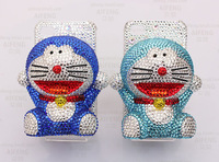 3D Bling Bling Doraemon Cat Flatback Cabochon Phone Case Deco Kit for iphone 4, 5