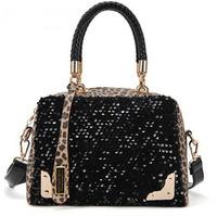 2013 Hot Popular Sequins Handbag Women Fashion Leopard Shoulderbag High Quality PU Wholesale